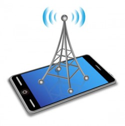Cell Phone Frequency - Cell tower on top of cell phone clip art