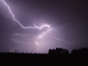 How Lightning Affects Mobile Signal - Bright lightning in dark grey sky