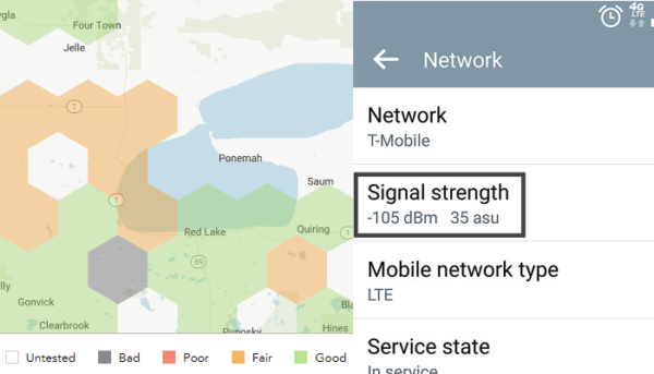 Measure Signal Strength in dBm and on coverage maps