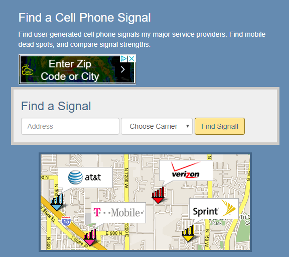 Step 1 Enter your location and network details